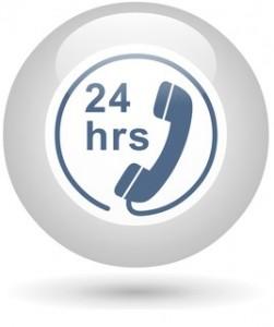 Icône téléphone 24hrs