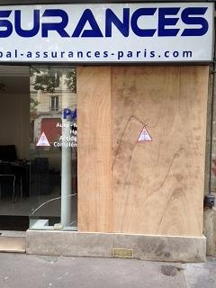 2 vitre brisée